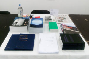 RSS Press table at Wiels
